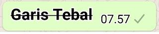 Membuat Tulisan Coret Bergaris Tebal Whatsapp