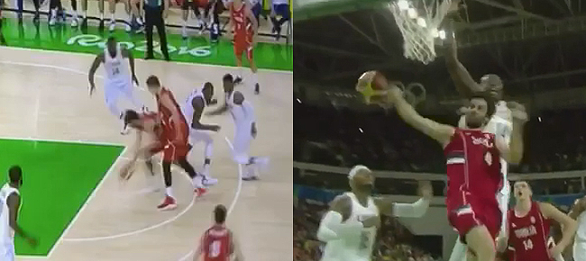 Serbia's Milos Teodosic NASTY Move Against Team USA (VIDEO) Rio Olympics 2016