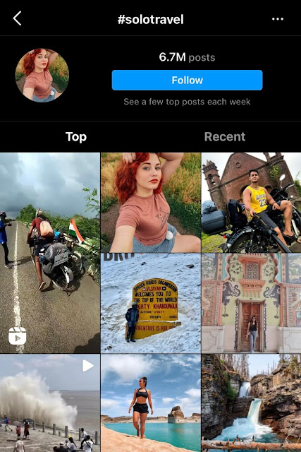 Solo travel hashtags for Instagram