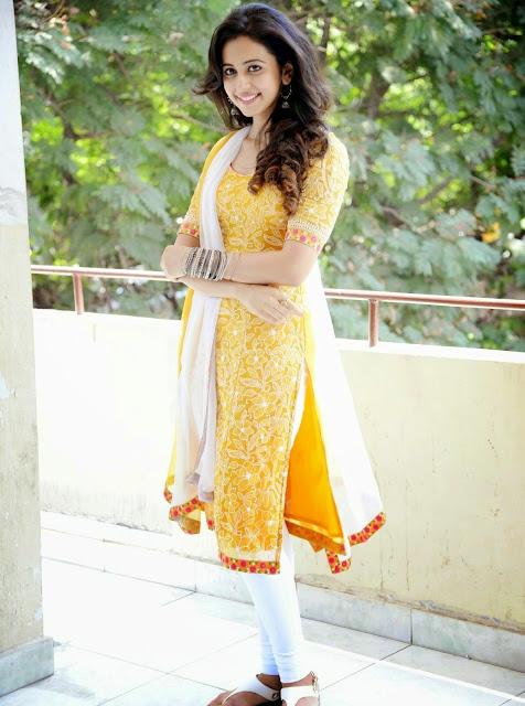 Rakul Preet Singh Photos in Yellow Salwar Kameez
