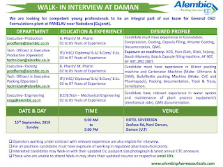 Walk in Alembic Pharma