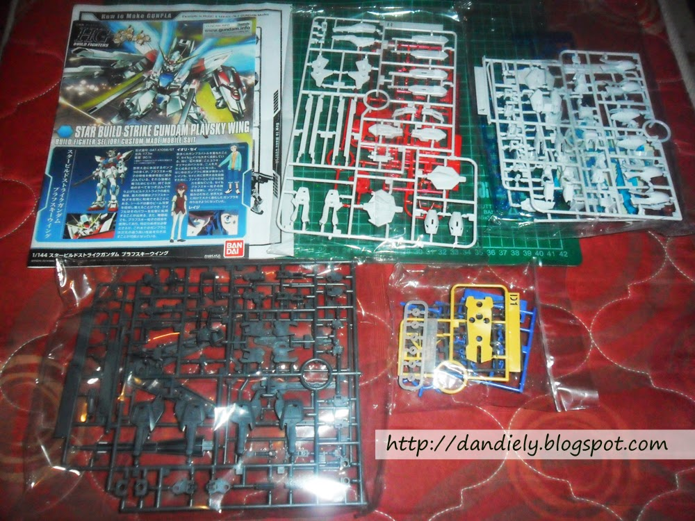 Star Build Strike Plavsky Wing kit - runnners, manual and stickers