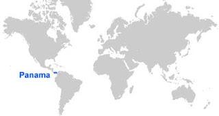 Gambar Peta letak Panama