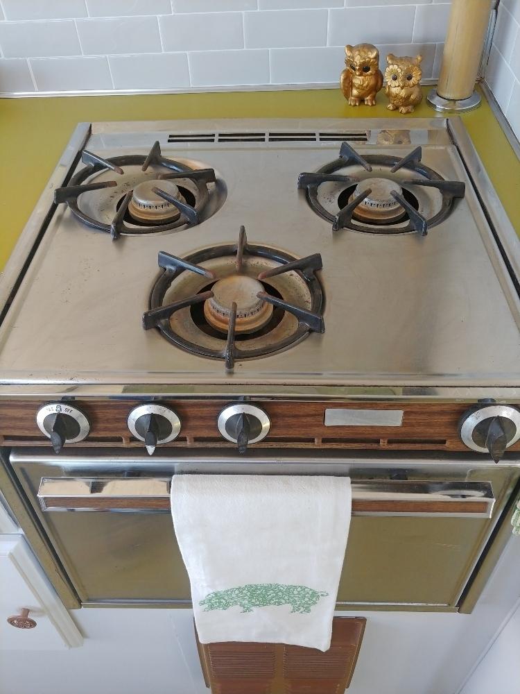 vintage RV kitchen