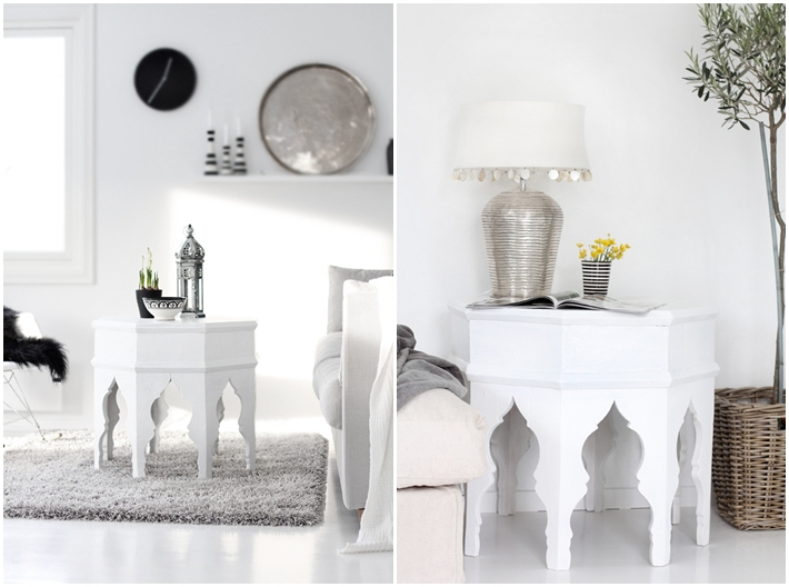 I Love The Mix Of A White Scandinavian Feel And Ethnic Moroccan Decor Especially If You Keep Items Simple In Silver Gold Or Black