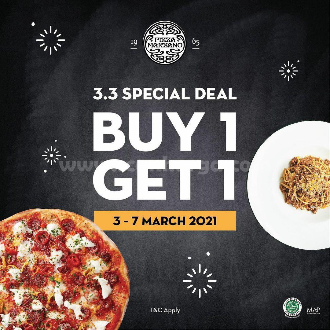 Promo PIZZA MARZANO 3.3 SPECIAL DEAL! BELI 1 GRATIS 1