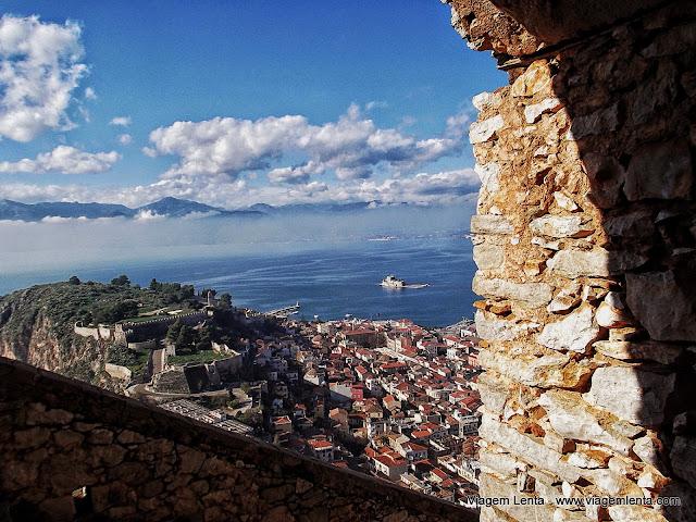 Vista de Nafplio a partir da fortaleza de Palamidi