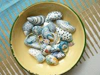 Manualidades : conchas pintadas a mano