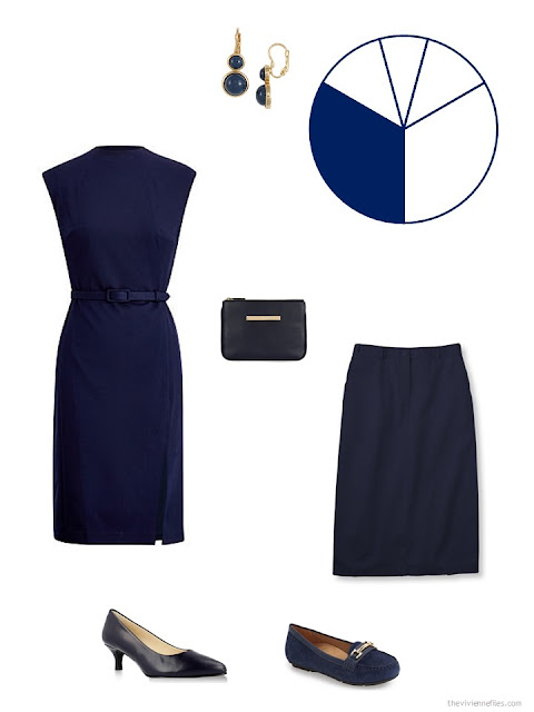 navy core wardrobe pieces for a business capsule wardrobe