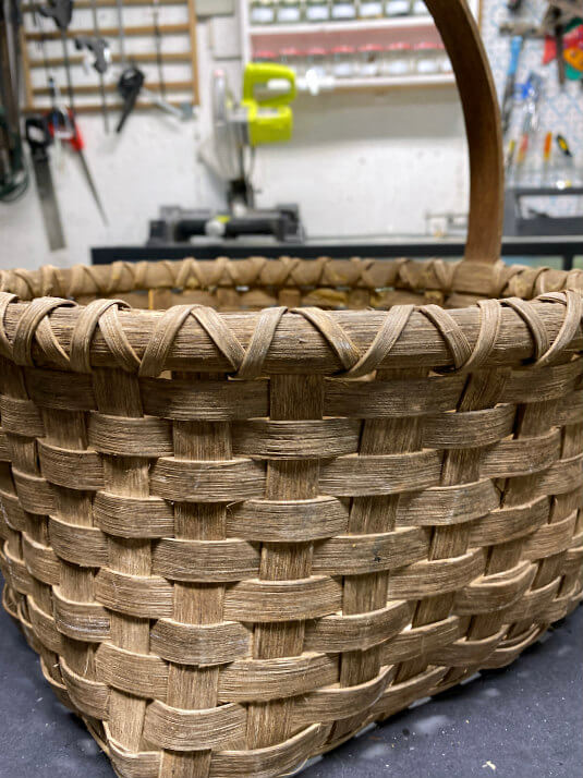 old weathered wicker basket