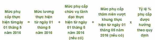 Thông tư 05/2016/TT-BNV: Hướng dẫn cách tính mức lương và khoản phụ cấp 3