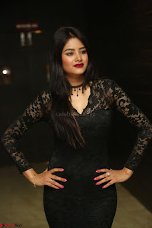 Actress Monica in spicy transparent Black Top at O Pilla Nee Valla Movie Audio Launch Feb 2017 136.JPG