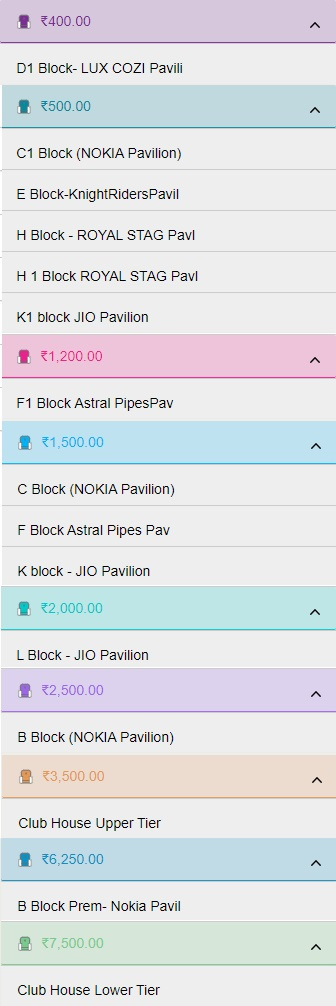 Cost of VIVO IPL 2019 Tickets for Matches at Eden Gardens, Kolkata IPL 2019 Tickets Price List