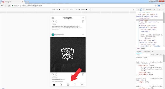 Cara Posting/Upload Di Instagram Melalui Komputer Tanpa Extension Tambahan