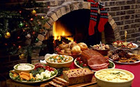 Xmas food table