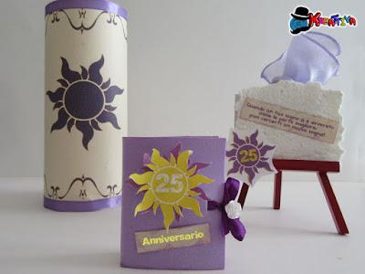 kit per 25 anniversario di matrimonio Rapunzel
