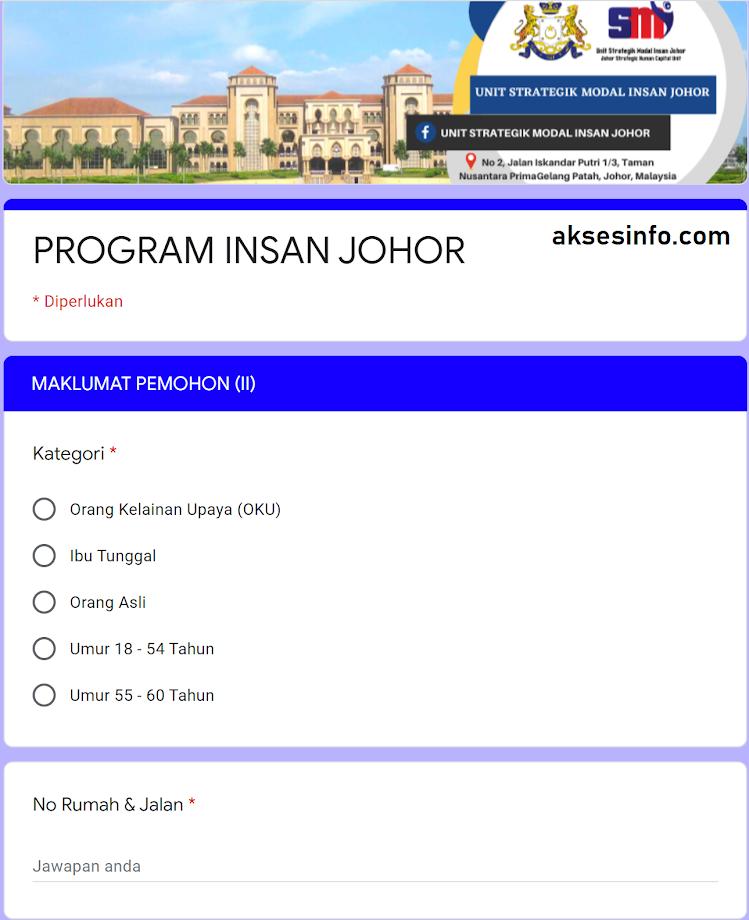 Daftar Program Insan Johor Untuk Golongan B40 Dan M40 Aksesinfo