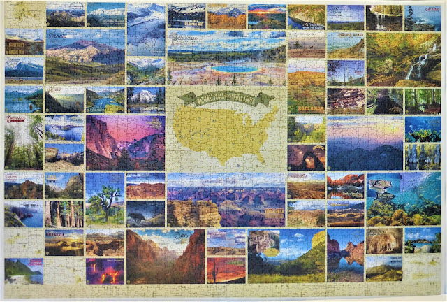 National Parks of the United States 2000 piece puzzle assembled by Elmer Prather