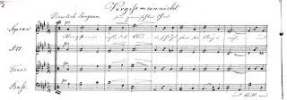 Heinrich Schulz-Beuthen: Vergissmeinnicht für gemischten Chor