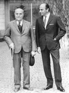 Nuccio Bertone (right), pictured with his  father, Giovanni