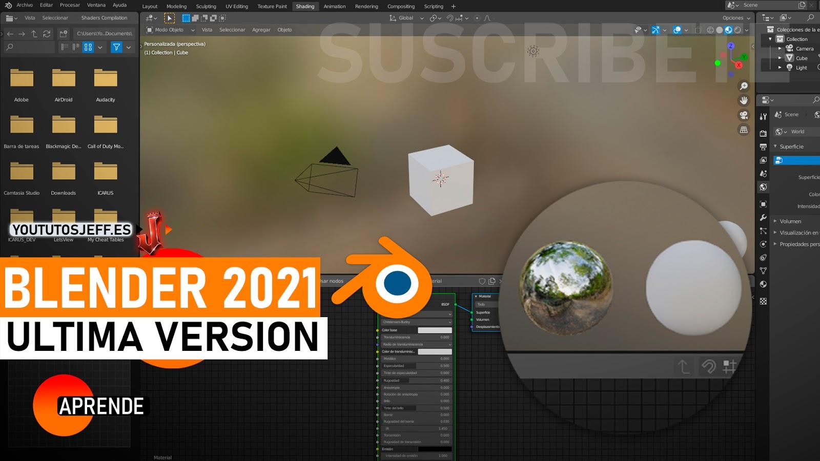 Como Descargar Blender Ultima Version 2021 FULL ESPAÑOL
