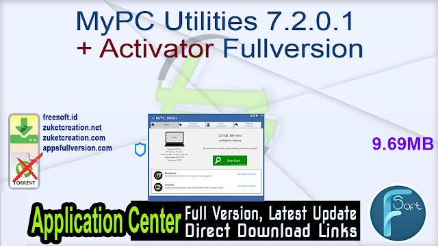 MyPC Utilities 7.2.0.1 + Activator Fullversion