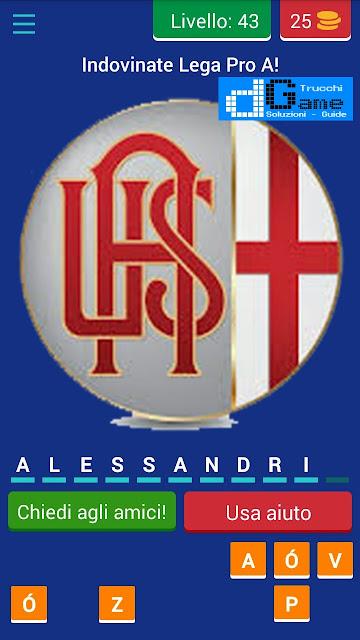 Calcio Italiano - Logo Quiz soluzione livello 41 42 43 44 45 46 47 48 49 50 | Parola e foto