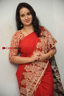 Kannada Actress Lakshmi Hegde Pos in Red Saree at Tab Movie Press Meet  0004.jpg