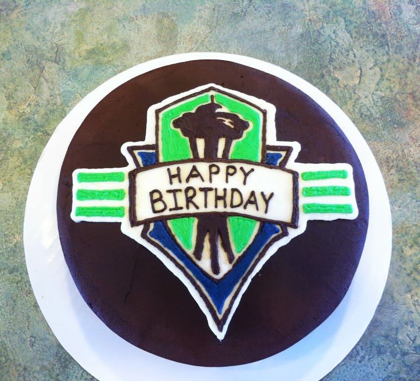 Seattle Sounders Inspired Birthday Cake