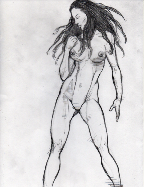 Female Anatomy Pencil Drawing