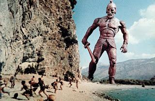La escena del gigante Talos de Jasón y los argonautas