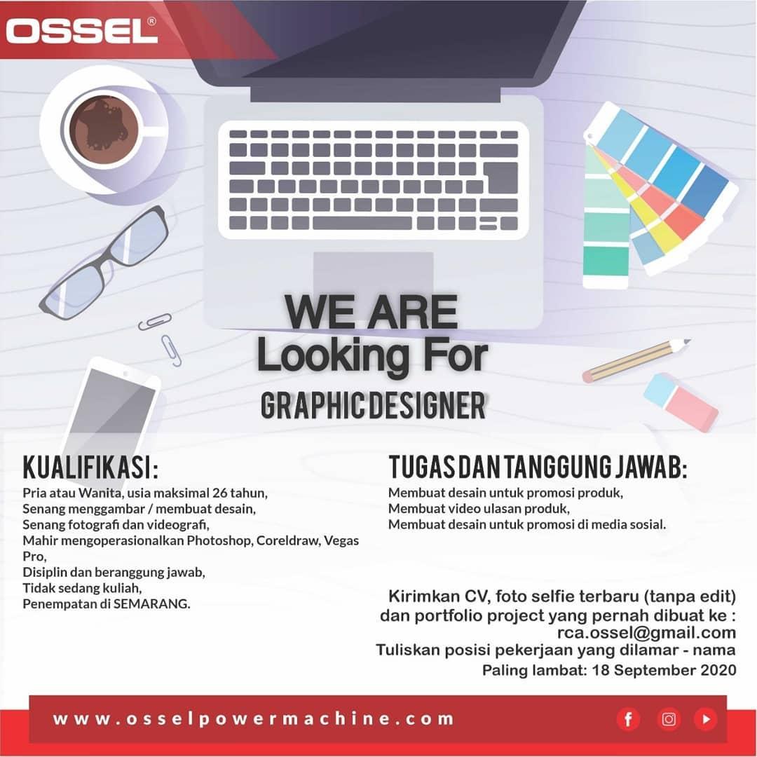 Lowongan Semarang Mari Bergabung Dengan Kami Sebagai Graphic Designer Mesin OSSEL Semarang
