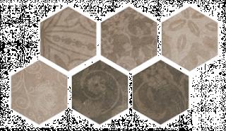 Porcelain tiles ATLAS HEXAGON PATCHWORD COLD