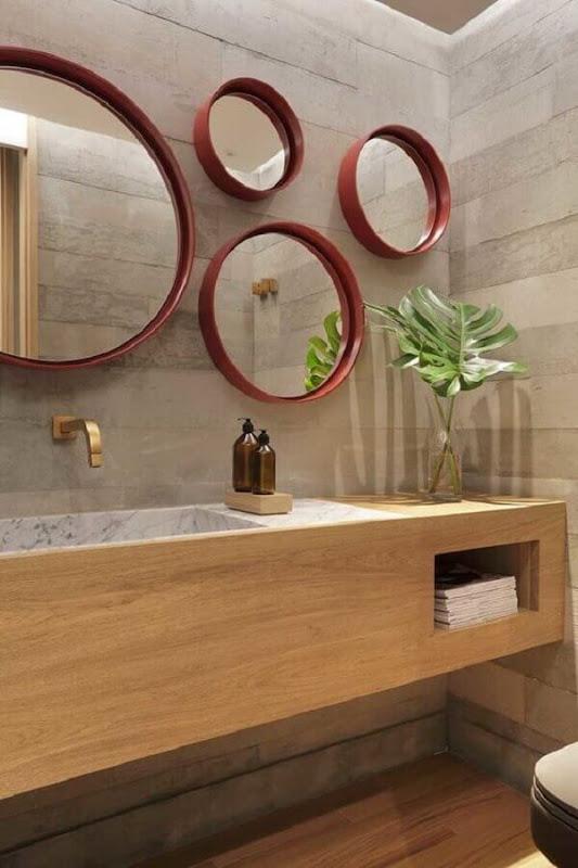 Decoration of modern bathroom