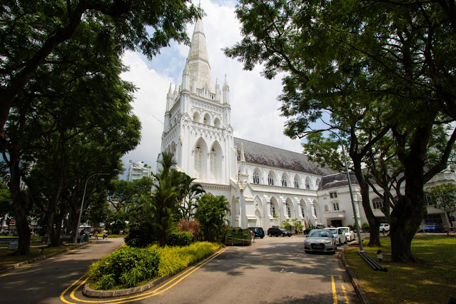 St. Andrews Cathedral-Padang (quartiere coloniale)-Singapore