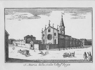 The Church of Santa Maria alla Scala, built in 1381, was demolished to make way for the theatre
