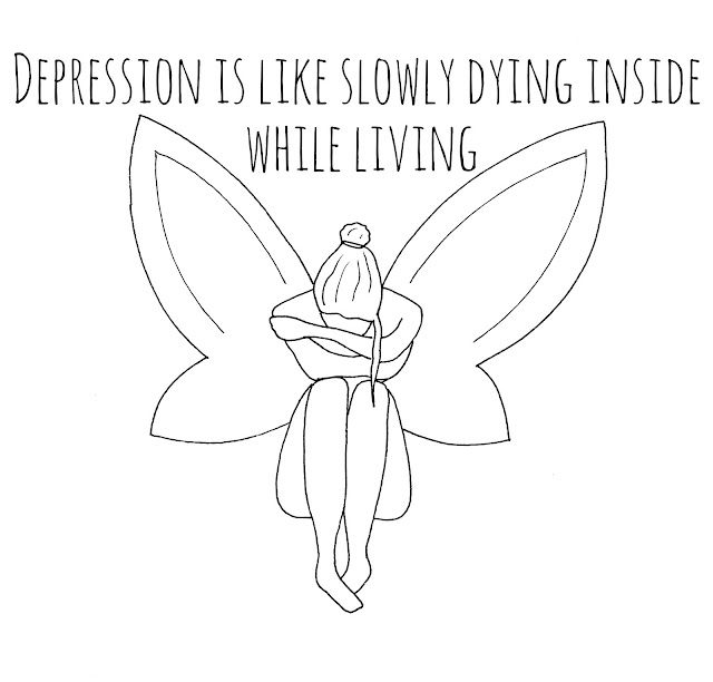 Depression is like slowly dying inside while living.
