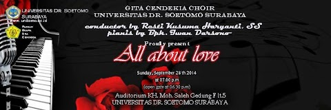 "Pagelaran Paduan Suara Penuh Cinta ""All About Love"" Gita Cendekia Choir"