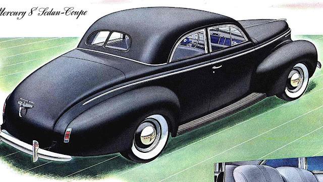a 1940 Mercury rear view