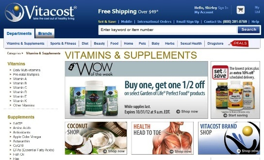 vitacost online shopping vitamins supplements