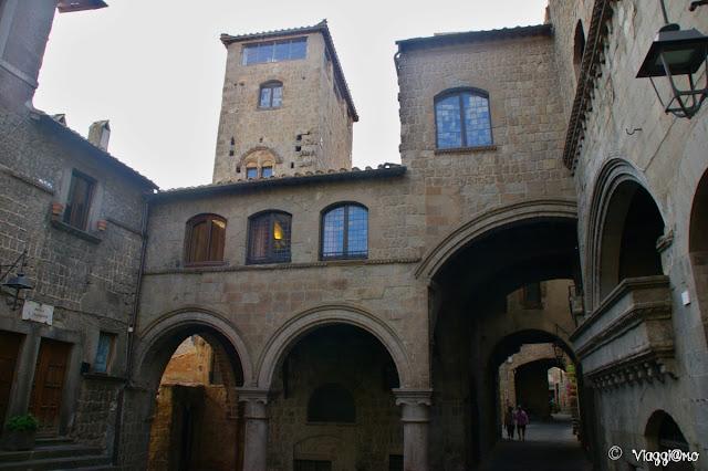Scorcio del quartiere medievale di Viterbo