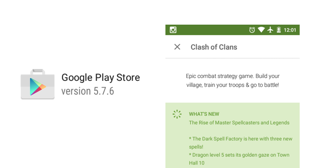 Update Google Play Store APK