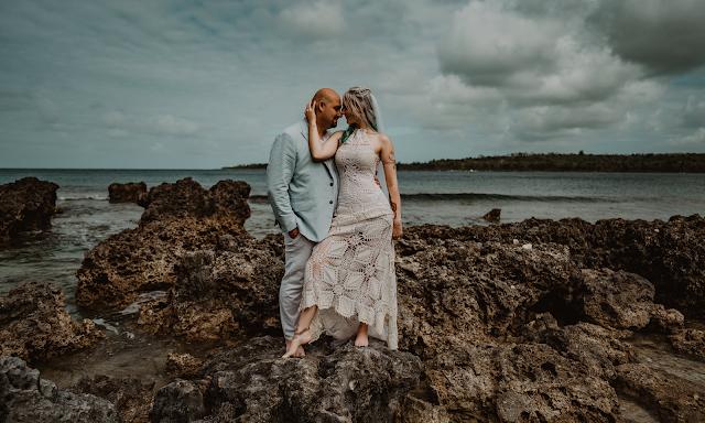 ocean beach wedding bohemian bride