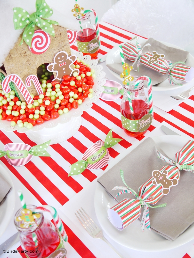 candyland christmas diy tablescape kids holiday table birdspartycom