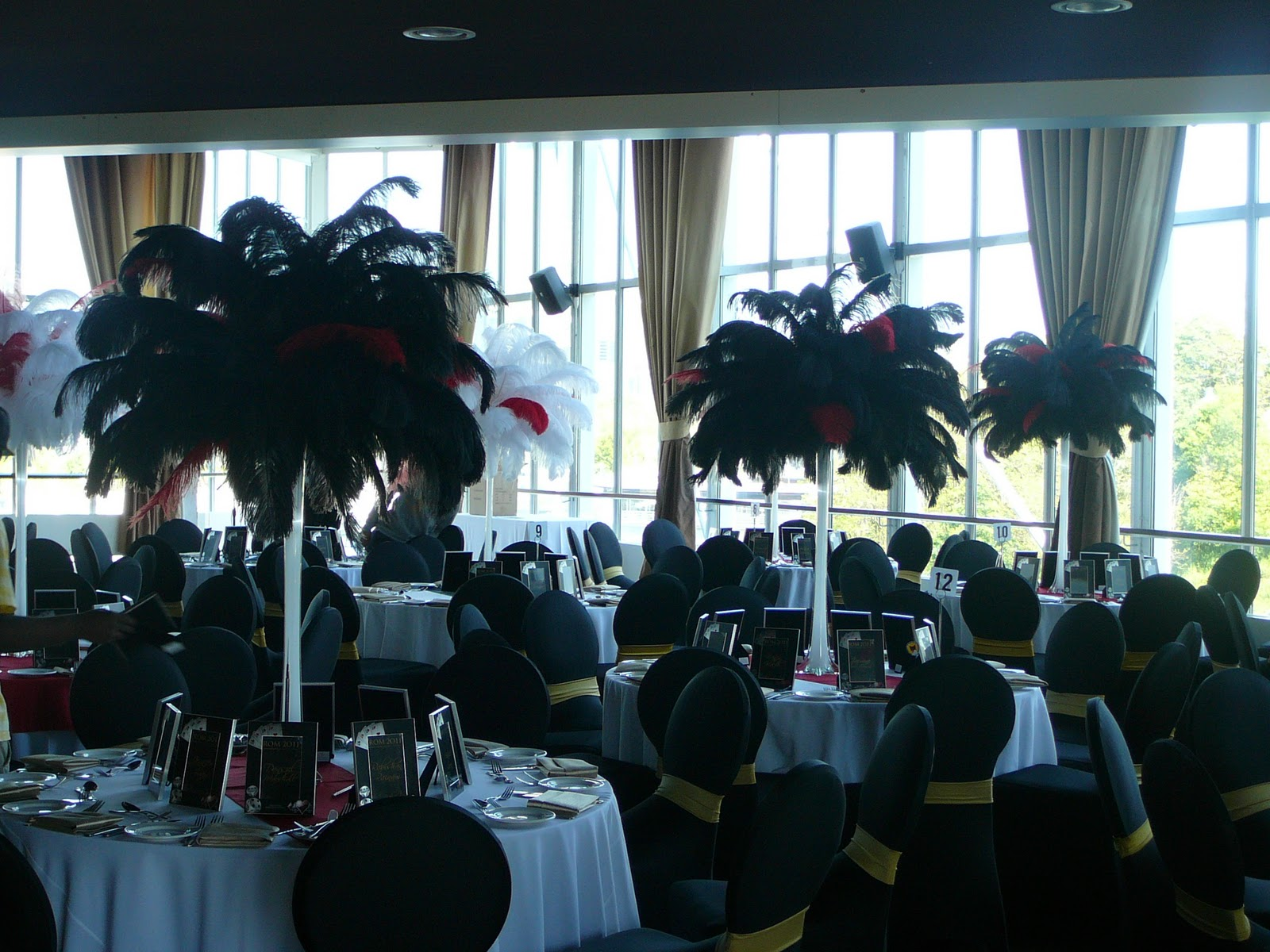 Flower And Event Decor Ostrich Feather Centerpieces Best