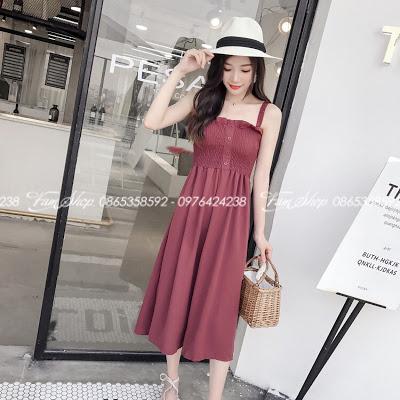 Shop ban vay maxi di bien o Kim Ma