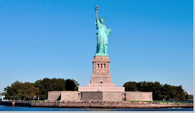 Liberty Statue (USA), tinggi patung 93 meter, Amerika Serikat - pustakapengetahuan.com