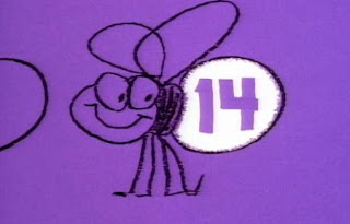 there are the lightning bugs at the Glowworm Jamboree, they show the numbers 1-14. Sesame Street The Great Numbers Game