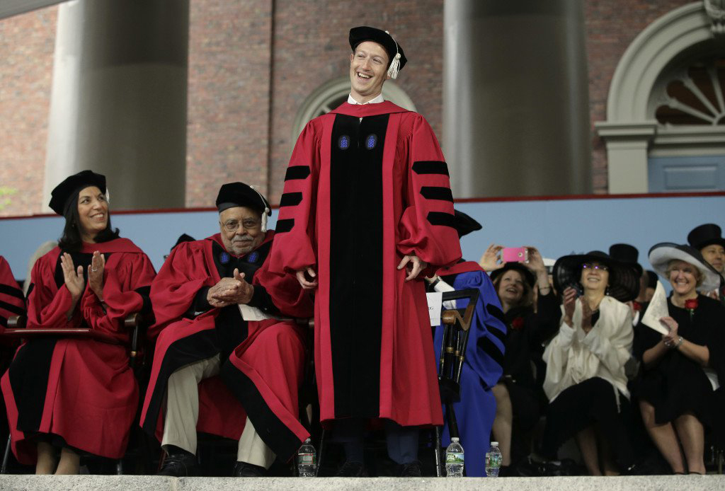 13 years after quitting CEO of Facebook Mark Zuckerberg Gets Honorary Harvard Degree