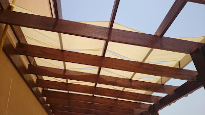Fabric Pergola Suppliers Installation in Dubai UAE.
